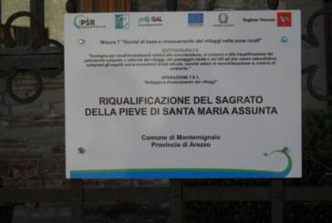 RIQUALIFICAZIONE DEL SAGRATO DELLA PIEVE DI SANTA MARIA ASSUNTA : Intervento realizzato grazie al contributo del GAL Aretino